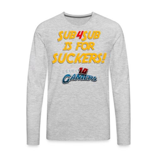 Anti Sub4Sub - Men's Premium Long Sleeve T-Shirt