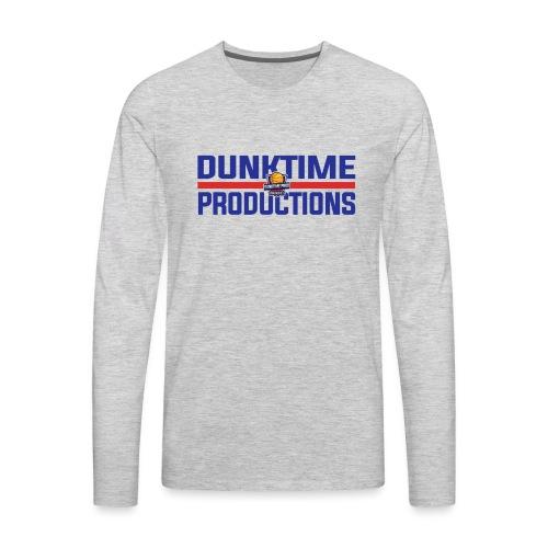 DUNKTIME Retro logo - Men's Premium Long Sleeve T-Shirt