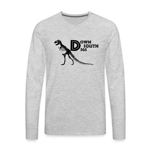 T-Rex Logo - Men's Premium Long Sleeve T-Shirt