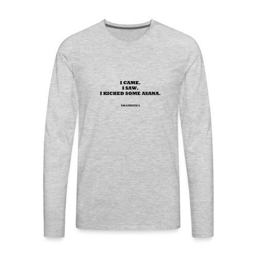 yoga kick asana - Men's Premium Long Sleeve T-Shirt