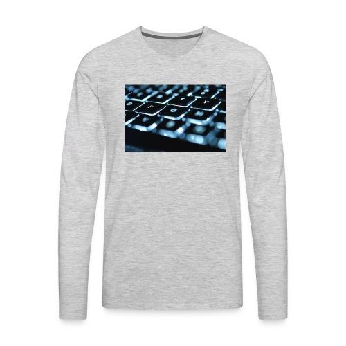 Glowing Keyboard - Men's Premium Long Sleeve T-Shirt