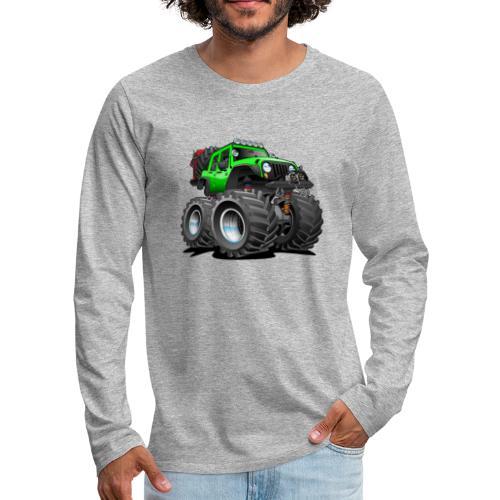 Off road 4x4 gecko green jeeper cartoon - Men's Premium Long Sleeve T-Shirt