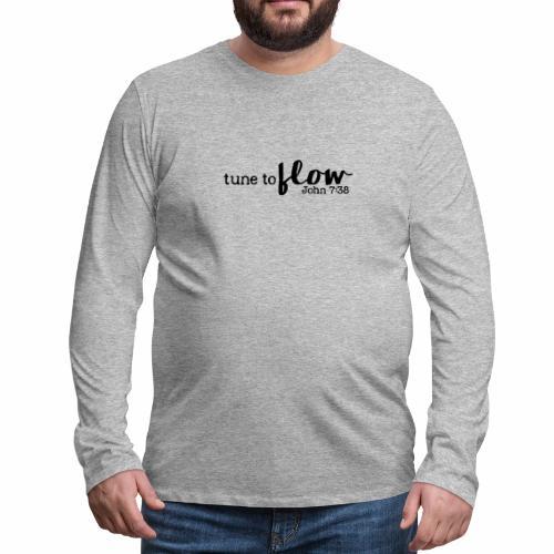 Tune to Flow - Design 3 - Men's Premium Long Sleeve T-Shirt