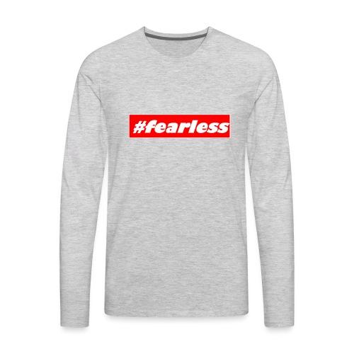 #fearless - Men's Premium Long Sleeve T-Shirt