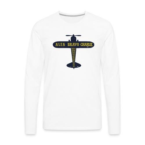 International Phonetic Alphabet Airplane - Men's Premium Long Sleeve T-Shirt