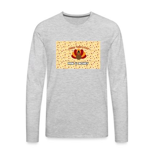thanksgiving are u scary merch - Men's Premium Long Sleeve T-Shirt