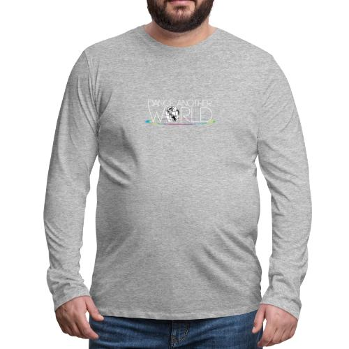 DAW Logo with White Text - Men's Premium Long Sleeve T-Shirt