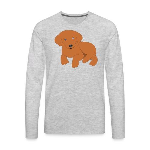 Golden retriever dog - Men's Premium Long Sleeve T-Shirt