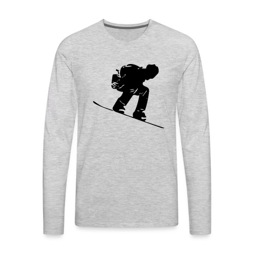 Snowboard - Men's Premium Long Sleeve T-Shirt