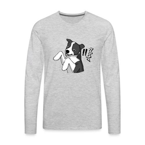 Surprised Border Collie - Men's Premium Long Sleeve T-Shirt