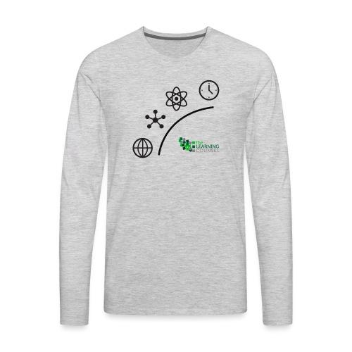 Matter Energy Space Time (Black) - Men's Premium Long Sleeve T-Shirt