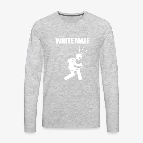 White Male Yes - Men's Premium Long Sleeve T-Shirt