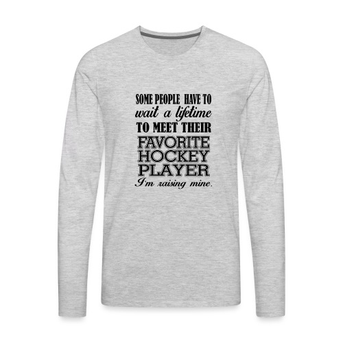 Favorite hockey player - Men's Premium Long Sleeve T-Shirt