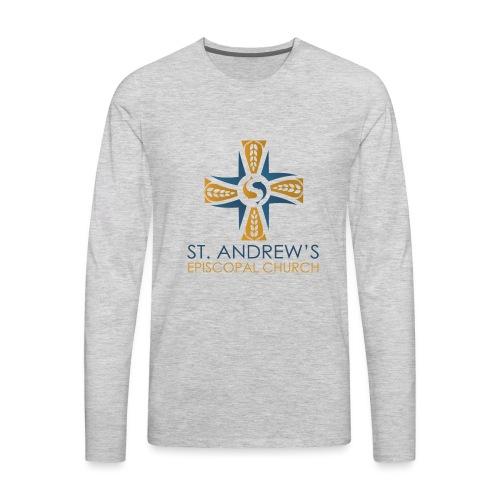 St. Andrew's logo on transparent background - Men's Premium Long Sleeve T-Shirt
