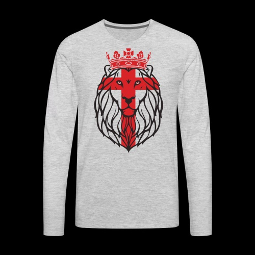 Lion Hearted - Men's Premium Long Sleeve T-Shirt