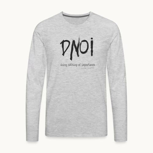 PRODUCT DNOI GRUNGE Carolyn Sandstrom BK TEXT - Men's Premium Long Sleeve T-Shirt