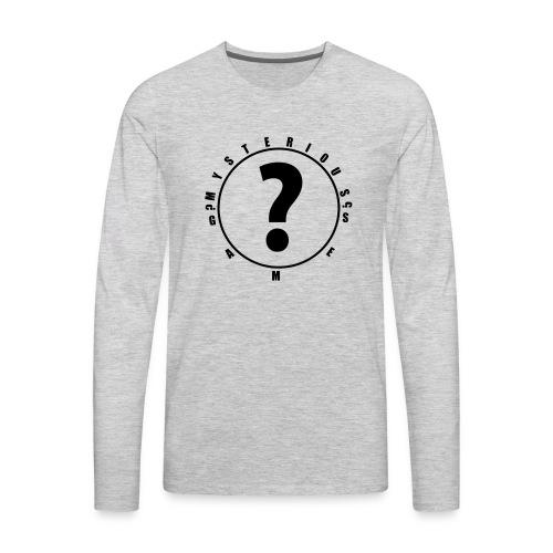 question mark logo - Men's Premium Long Sleeve T-Shirt