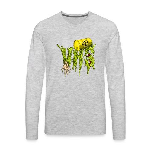 VHS-Radioactive Logo T-Shirt - Men's Premium Long Sleeve T-Shirt