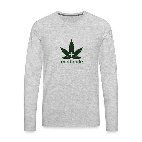 Medicate Supporter - Men's Premium Long Sleeve T-Shirt