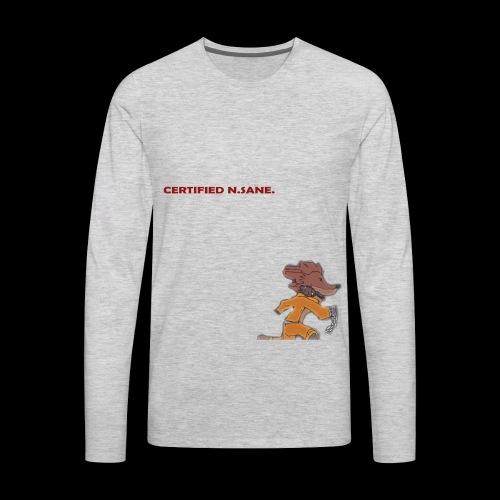 Free Bandicoot (Certified N.Sane). - Men's Premium Long Sleeve T-Shirt