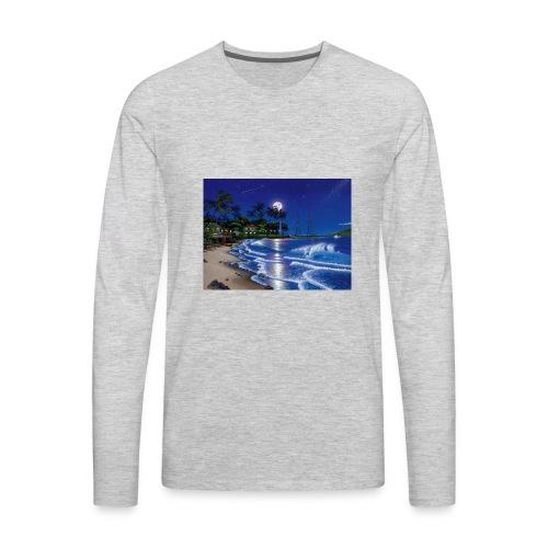 full moon - Men's Premium Long Sleeve T-Shirt