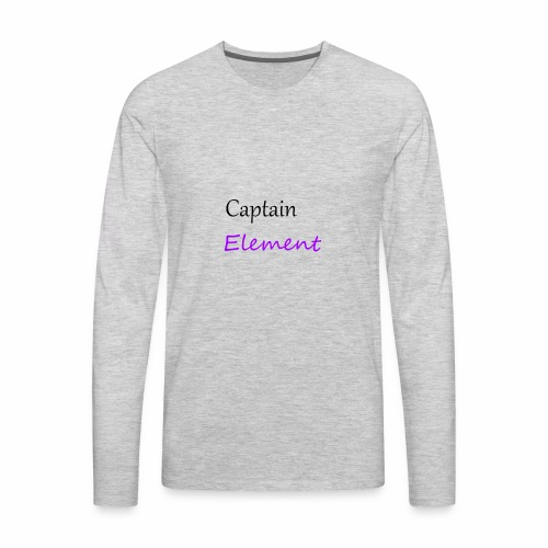 Captain Element Logo 2 - Men's Premium Long Sleeve T-Shirt