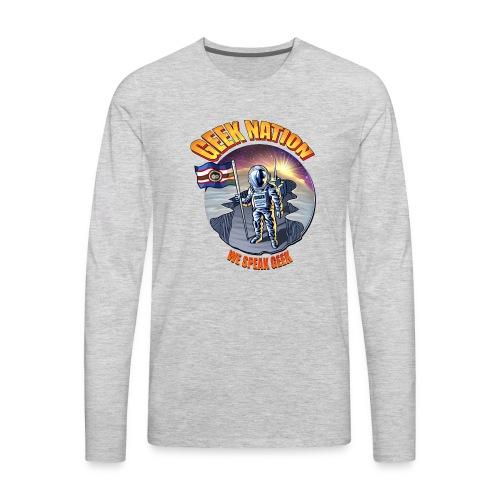 Geek Nation Sun shining - Computer Resolution - Men's Premium Long Sleeve T-Shirt