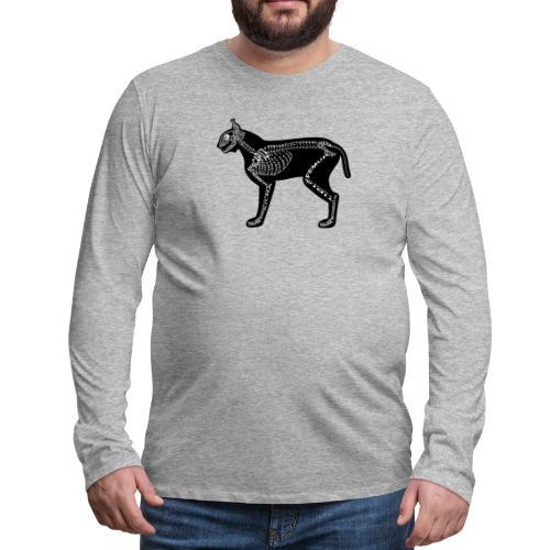 Skeleton Lynx - Men's Premium Long Sleeve T-Shirt