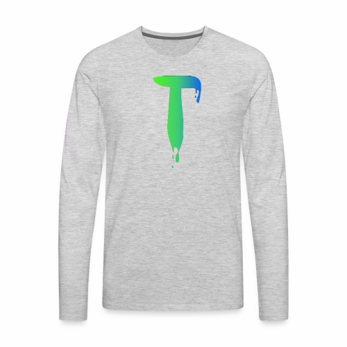 Colored Tlicker Logo - Men's Premium Long Sleeve T-Shirt