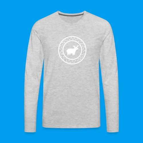 Christmas Deer - Men's Premium Long Sleeve T-Shirt