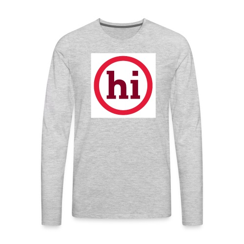 hi T shirt - Men's Premium Long Sleeve T-Shirt