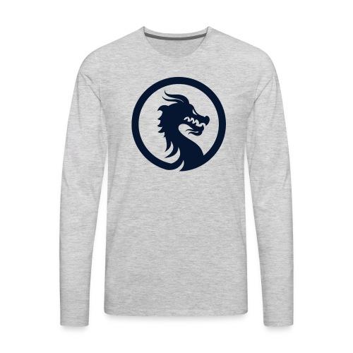 Dragon Logo PNG - Men's Premium Long Sleeve T-Shirt