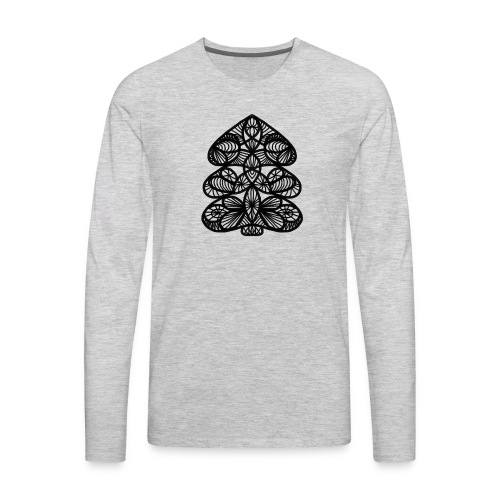 Simple Victorian Lace Design Christmas Tree - Men's Premium Long Sleeve T-Shirt