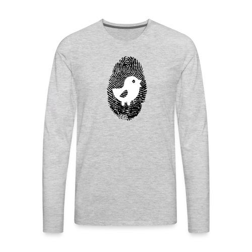 Chick Finger Print - Men's Premium Long Sleeve T-Shirt