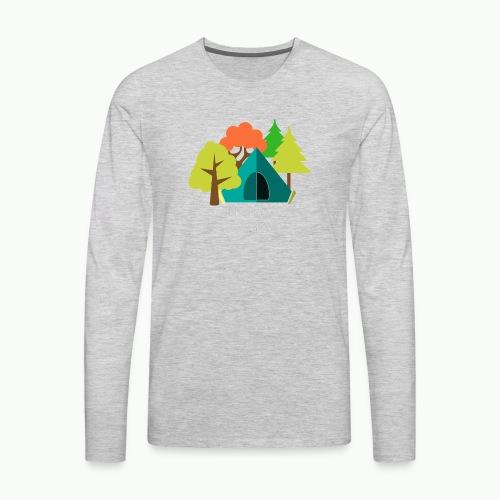 I d rather be camping white - Men's Premium Long Sleeve T-Shirt