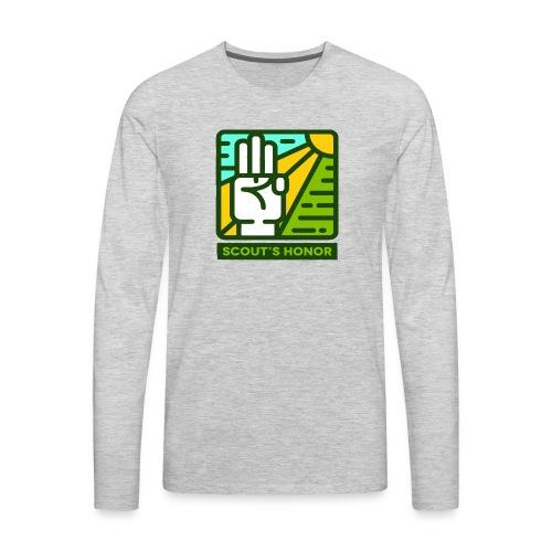 scouts honour - Men's Premium Long Sleeve T-Shirt