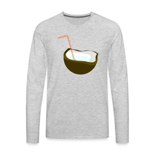 coconut water - Men's Premium Long Sleeve T-Shirt