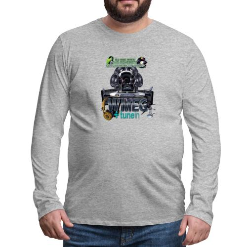 WMEG internet Radio logo - Men's Premium Long Sleeve T-Shirt