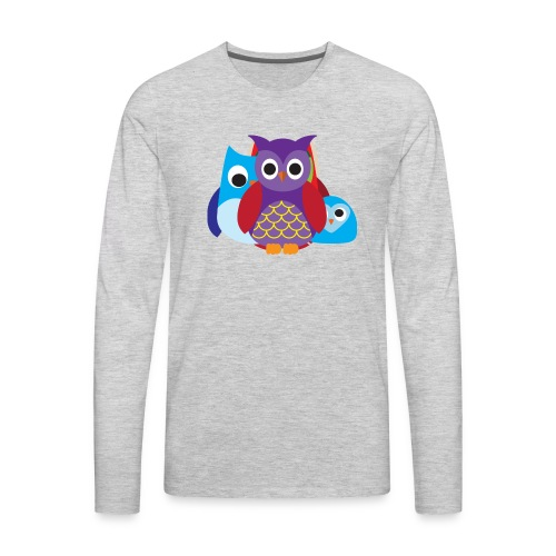 Cute Owls Eyes - Men's Premium Long Sleeve T-Shirt