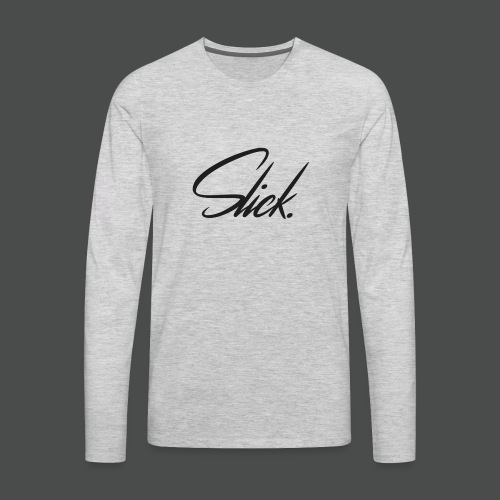Slick Logo - Men's Premium Long Sleeve T-Shirt