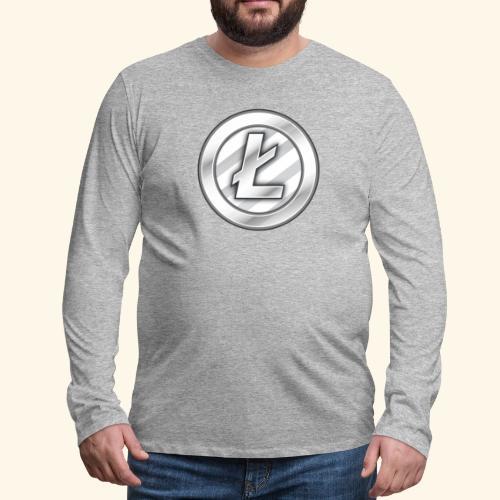 Litecoin Tee Shirt - Men's Premium Long Sleeve T-Shirt