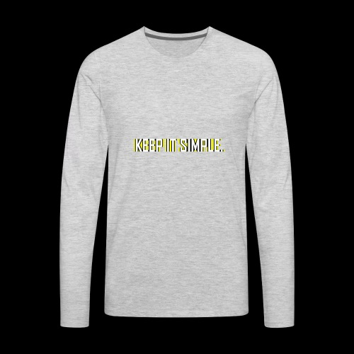 Keep It Simple - Men's Premium Long Sleeve T-Shirt