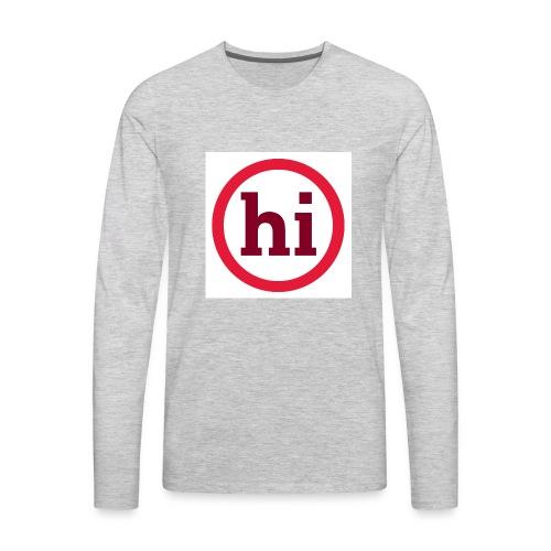 hi T shirt - Men's Premium Long Sleeve T-Shirt