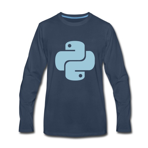 Python Logo - Men's Premium Long Sleeve T-Shirt