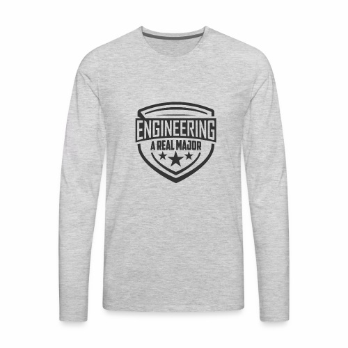 Engineering A Real Major Apparel - Shield Design - Men's Premium Long Sleeve T-Shirt