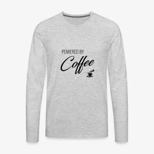 Powered by Coffee - Men's Premium Long Sleeve T-Shirt