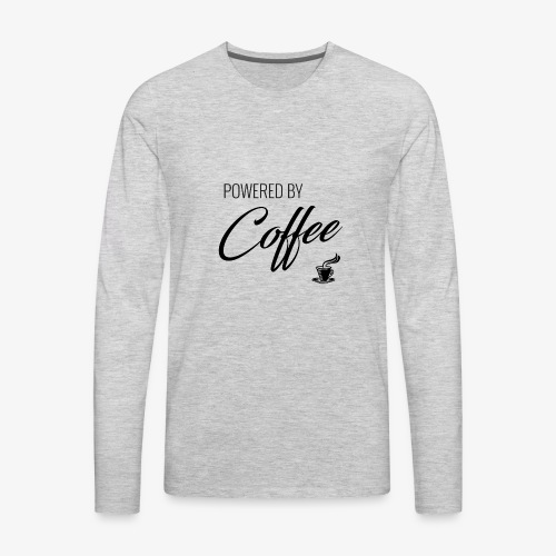 Powered by Coffee - Men's Premium Long Sleeve T-Shirt