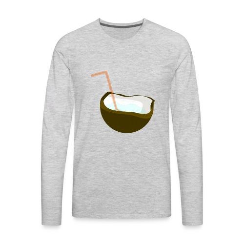 coconut water - Men's Premium Long Sleeve T-Shirt