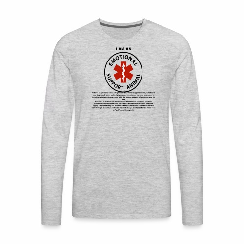 emotional support animal - Men's Premium Long Sleeve T-Shirt