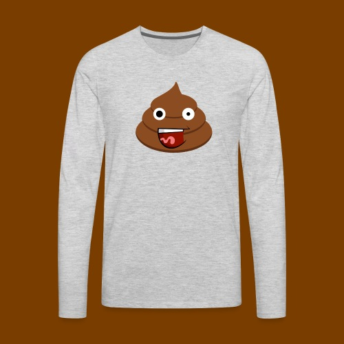 Poop Logo - Men's Premium Long Sleeve T-Shirt
